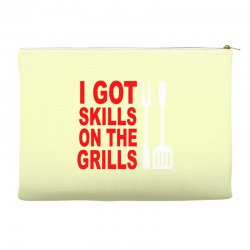 got skills on the grills apron Accessory Pouches | Artistshot