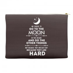 We Choose to Go to The Moon Accessory Pouches | Artistshot