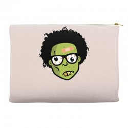geek zombie head funny Accessory Pouches | Artistshot