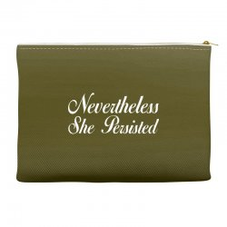 Neveretheless she persisted Accessory Pouches | Artistshot