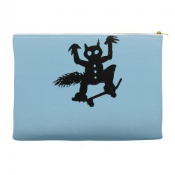 wild thing on a skateboard Accessory Pouches | Artistshot