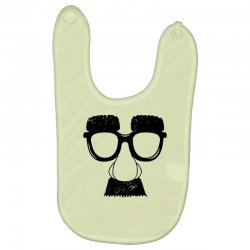 comedy fancy dress moustache funny Baby Bibs | Artistshot