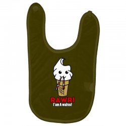 rawr i am a walrus ice cream cute Baby Bibs | Artistshot