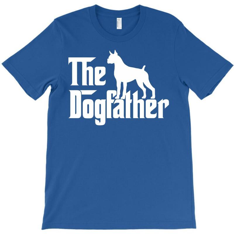 90d16955afa Custom The Dogfather Boxer White T-shirt By Killakam - Artistshot
