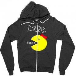 Mrs. Pacman Zipper Hoodie | Artistshot