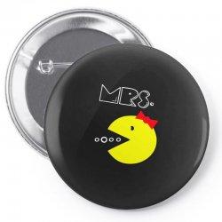 Mrs. Pacman Pin-back button | Artistshot