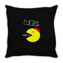 Mrs. Pacman Throw Pillow | Artistshot