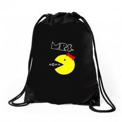 Mrs. Pacman Drawstring Bags | Artistshot