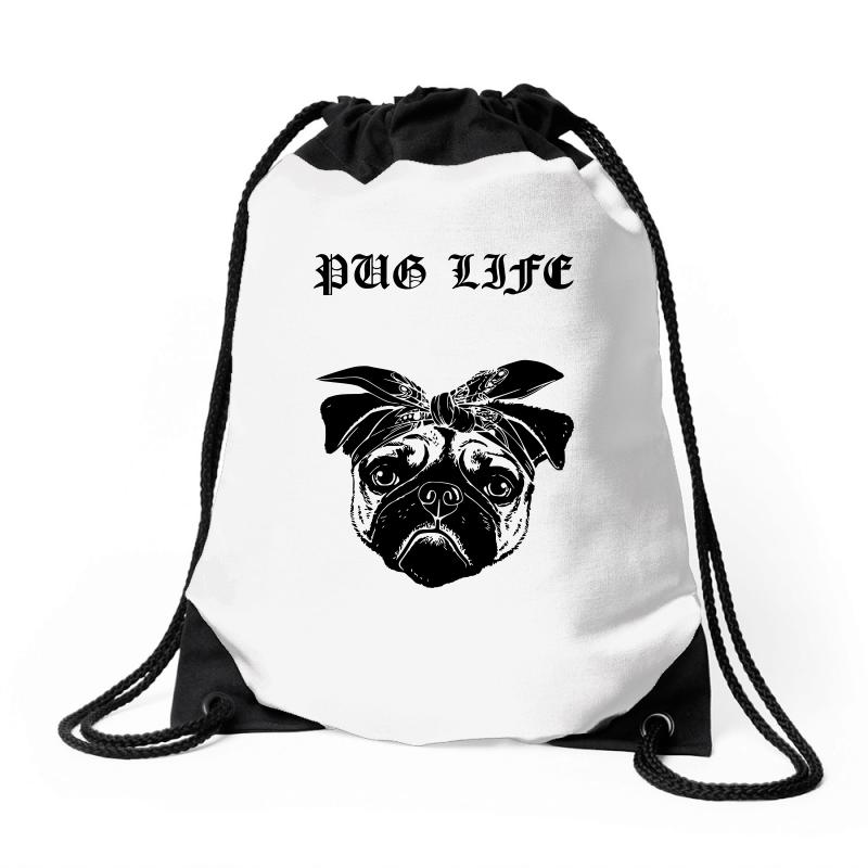 5f3942aa Custom Pug Life Drawstring Bags By Sbm052017 - Artistshot