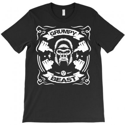 Grumpy Beast Gorilla T-shirt Designed By Secreet