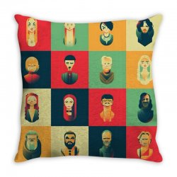 family of thrones Throw Pillow | Artistshot