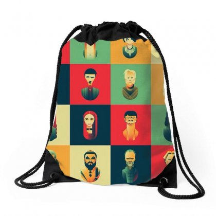 Family Of Thrones Drawstring Bags Designed By Anggafadil