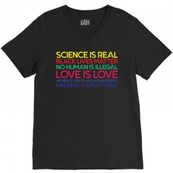Anti Trump Science is Real Black Lives Matter T shirt V-Neck Tee | Artistshot