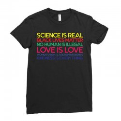 Anti Trump Science is Real Black Lives Matter T shirt Ladies Fitted T-Shirt   Artistshot