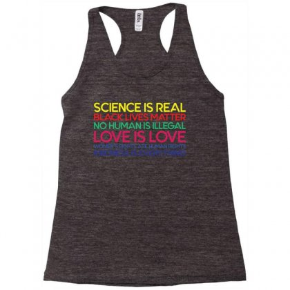 Anti Trump Science Is Real Black Lives Matter T Shirt Racerback Tank Designed By Sabriacar