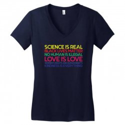 Anti Trump Science is Real Black Lives Matter T shirt Women's V-Neck T-Shirt   Artistshot