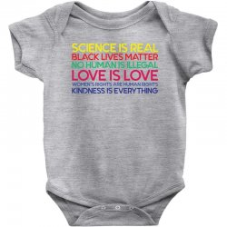 Anti Trump Science is Real Black Lives Matter T shirt Baby Bodysuit | Artistshot