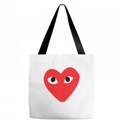Comme Des Garcons Play Tote Bags | Artistshot