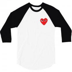 Comme Des Garcons Play 3/4 Sleeve Shirt   Artistshot