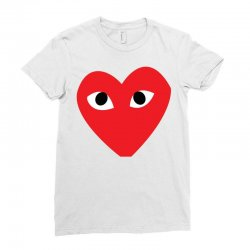 Comme Des Garcons Play Ladies Fitted T-Shirt | Artistshot