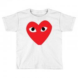 Comme Des Garcons Play Toddler T-shirt   Artistshot