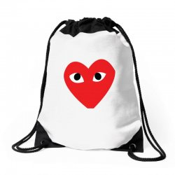 Comme Des Garcons Play Drawstring Bags | Artistshot