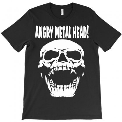 Angry Metal Head T-shirt Designed By Secreet