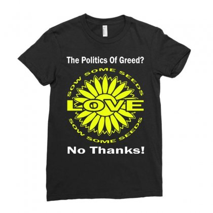 Political The 80's 60's Hippy Anti Capitalism Ladies Fitted T-shirt Designed By Secreet