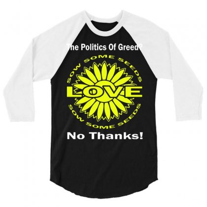 Political The 80's 60's Hippy Anti Capitalism 3/4 Sleeve Shirt Designed By Secreet