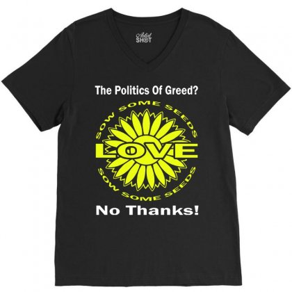 Political The 80's 60's Hippy Anti Capitalism V-neck Tee Designed By Secreet