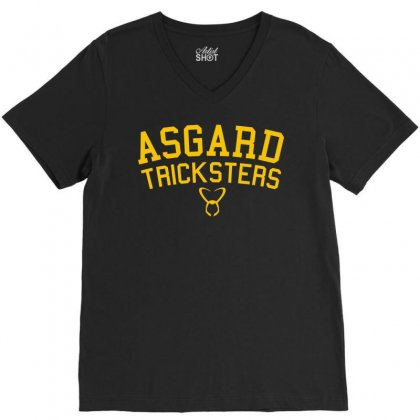 Asgard Tricksters V-neck Tee Designed By Mdk Art