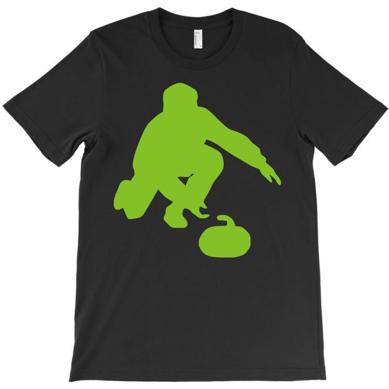 87752b968 Custom Curling T-shirt By Mdk Art - Artistshot