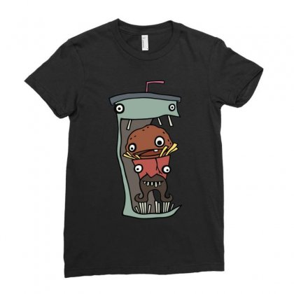 Delicious Aqua Teens Ladies Fitted T-shirt Designed By Mdk Art
