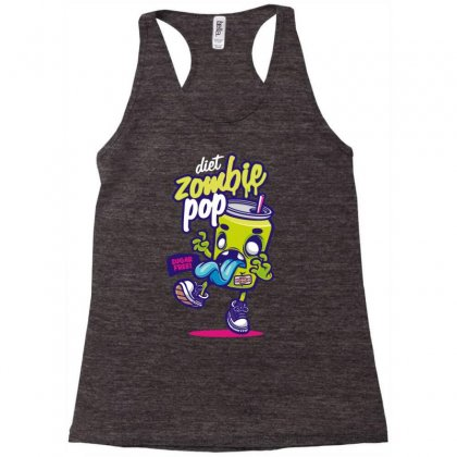 Diet Zombie Pop Racerback Tank Designed By Mdk Art
