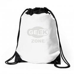 geek zone Drawstring Bags | Artistshot