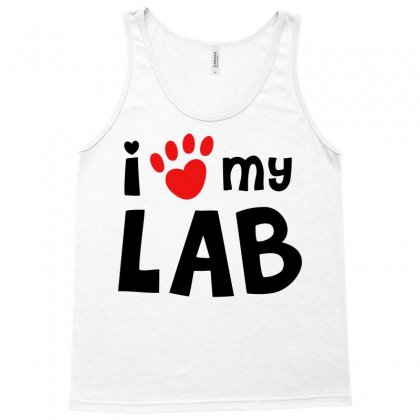 I Love My Lab Labrador Tank Top Designed By Mdk Art