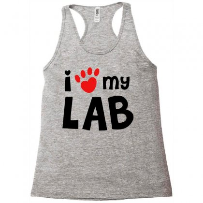 I Love My Lab Labrador Racerback Tank Designed By Mdk Art