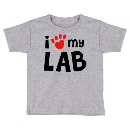 I Love My Lab Labrador Toddler T-shirt Designed By Mdk Art