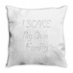 i scare my own family Throw Pillow | Artistshot