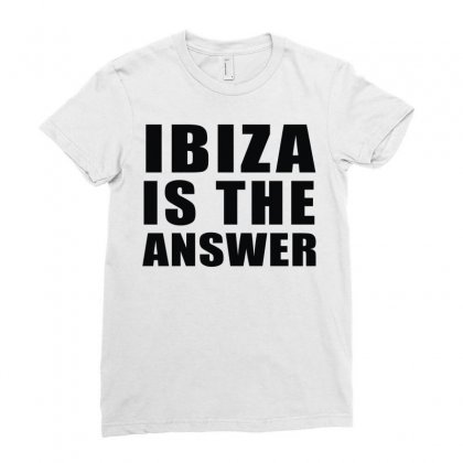Ibiza Is The Answer Ladies Fitted T-shirt Designed By Mdk Art