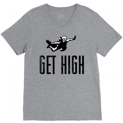 Get High V-neck Tee Designed By Sbm052017