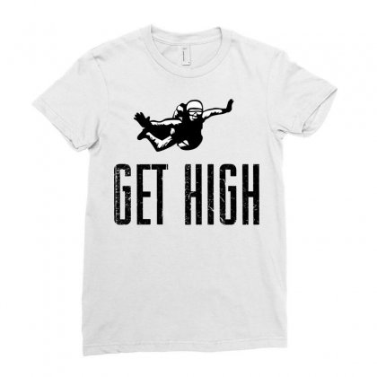 Get High Ladies Fitted T-shirt Designed By Sbm052017
