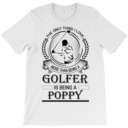 Golfer Poppy T-shirt Designed By Sabriacar