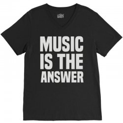 music is the answer V-Neck Tee | Artistshot