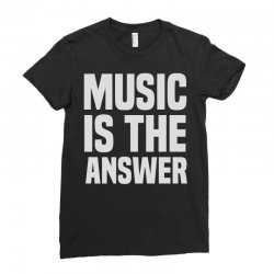 music is the answer Ladies Fitted T-Shirt | Artistshot