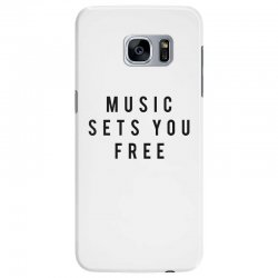 music sets you free Samsung Galaxy S7 Edge Case | Artistshot