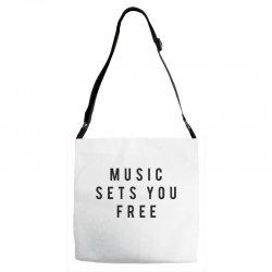 music sets you free Adjustable Strap Totes | Artistshot