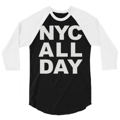 Nyc All Day 3/4 Sleeve Shirt Designed By Mdk Art
