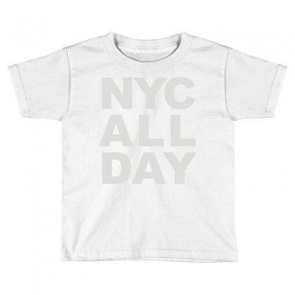 Nyc All Day Toddler T-shirt Designed By Mdk Art