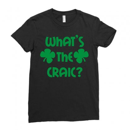 St Patricks Day Ladies Fitted T-shirt Designed By Mdk Art